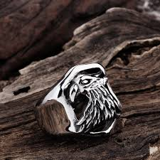 aliexpress com buy vintage stainless steel eagle rings for men