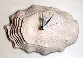 bark clock one made in seven layers of precisely cut wood