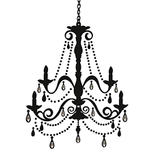 elegant chandelier silhouette giant wall decal removable decor elegant chandelier silhouette giant wall decal removable decor retroplanet com