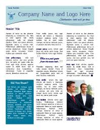 business newsletter multipurpose company newsletter download 10