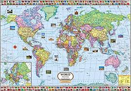 world politic map buy world political map 100 x 70 cm book at low prices in
