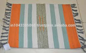 Indian Hand Woven Rugs Indian Home Decor Hand Woven Strips Rug Wholesaler Of Designer