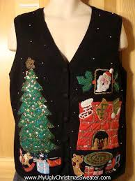 cat alert cat themed tacky sweater vest wit