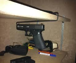 wall mount gun hangers diy handgun hanger 10 steps