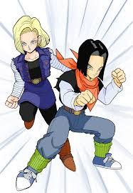 android 17 and 18 androids 17 and 18 colored by megami athena on deviantart