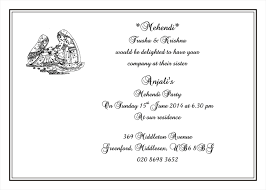 mehndi invitation wording mehendi card wordings