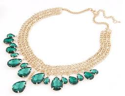 beautiful necklace photos images Beautiful green gem drop fashion necklace zuelia png