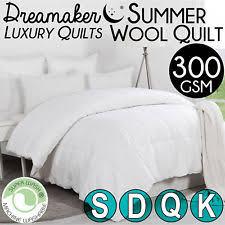 Australian Duvet Sizes Quilts 150 To 300 Gsm Grams Per Square Meter Ebay