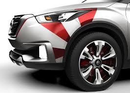 nissan kicks red nissan kicks concept given a carnival paint scheme in brazil
