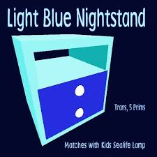 second life marketplace kids light blue nightstand