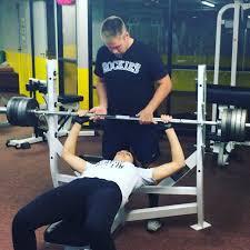 Bodybuilder Bench Press Cheryl Benching 145 Lbs Personaltrainer Gym Denver Colorado