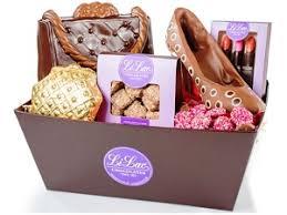 Nyc Gift Baskets Chocolate Handbag Li Lac Chocolates