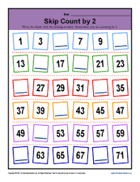 skip counting by 2s worksheets 2nd grade math activities