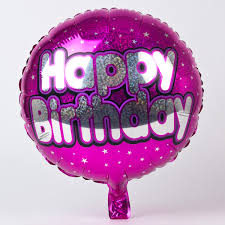 holographic pink happy birthday foil helium balloon only 2 49