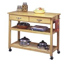 Natural Wood Kitchen Island by Elegant Dark Wood Movable Kitchen Islands With Storage For Natural