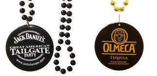 custom mardi gras 1 color imprint medallion