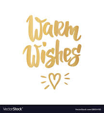 warm wishes card lettering for vector image