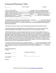 promissory note template printable editable form