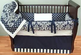 Boy Nursery Bedding Set by Navy Damask Baby Bedding 2139 299 00 Modpeapod We Make