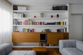 Living Room Set With Tv by Mesmerizing White Wooden Living Room Wall Shelves With Tv Stand
