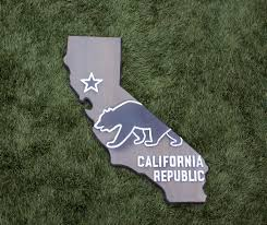 California Bear Flag Republic California Wood Sign U2013 Ca State Flag With Bear Design And Wood