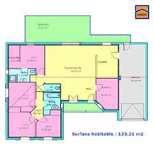 plan 4 chambres plain pied plan maison plein pied 3 chambres décoration intérieure