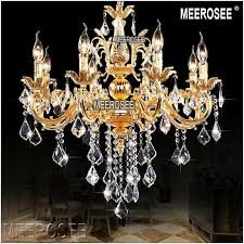 Classic Chandelier Chandelier Candle Lighting Fixture Golden Or Silver Lustre