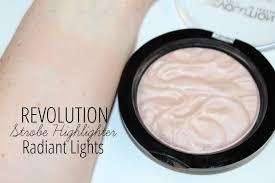 makeup revolution radiant lights revolution strobe and vivid baked highlighters review photos