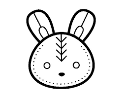 easter bunny face coloring coloringcrew