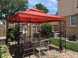 home depot arrow gazebo replacement canopy cover garden winds