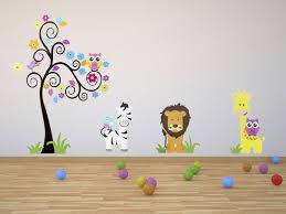 stickers muraux chambre bébé pas cher stickers muraux pour chambre pas cher sticker mural fille jungle