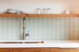 groutless kitchen backsplash basket weave tile in spaces contemporary