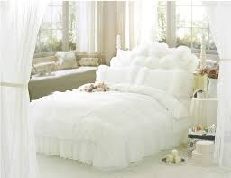 Free Bed Sets Free Shipping Luxury Snow White Lace Beautiful Bedding Sets Unique