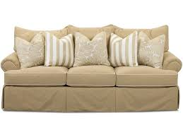 traditional sofas with skirts klaussner audrey traditional sofa with welting detail novello home