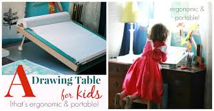 Drawing Desk Kids A Slanted Kids Drawing Table Ergonomic And Portable Artful Parent
