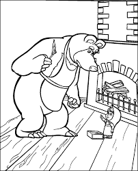 masha and the bear coloring pages getcoloringpages com