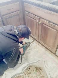 how to cut tile around cabinets how to remove tile flooring yourself with tips and tricks