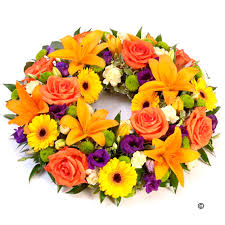 funeral wreaths funeral wreaths bright funeral isle of wight flowers