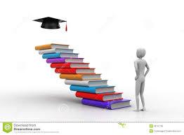 graduation books 3d icon of graduation and books stock illustration illustration