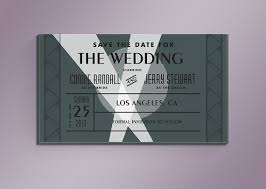 diy old hollywood movie ticket save the date card by noblesthart