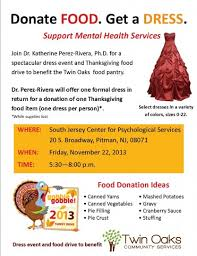 dress event to benefit our thanksgiving food drive oaks