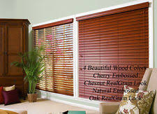 1 5 Inch Faux Wood Blinds Faux Wood Window Blinds And Shades Ebay