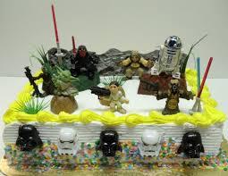 buy star wars birthday cake topper set featuring 7 random star