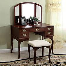 Wood Vanity Table Cherry Wood Vanity Table No Mirror