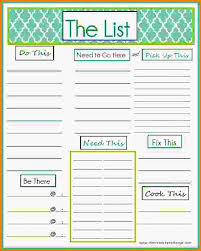 9 weekly to do list template letter template word