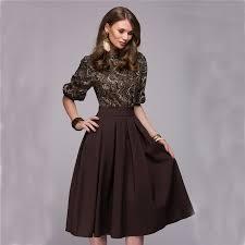 Floral Printed Dress 2018 New Fashion Women O Neck Autumn Spring