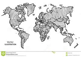 Vector World Map How To Draw Map Of World In World Map Drawing Roundtripticket Me