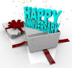 anniversary present present happy anniversary gift box stock illustration