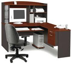 Black Corner Computer Desk With Hutch Lexa Home Office Corner Computer Desk Enduro Workstation Furniture