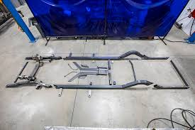 five frame first look the roadster shop u0027s spec tri five chevy chassis